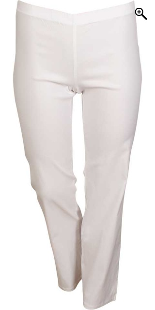 Zhenzi - Navy jazzy bengalin pants rubber band in whole the waist - White