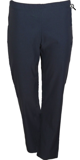 Zhenzi - Navy jazzy bengalin pants rubber band in whole the waist