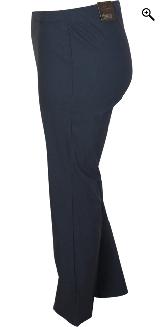 Zhenzi - Navy jazzy bengalin pants rubber band in whole the waist - Navy