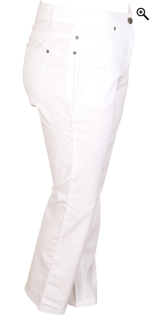 Zhenzi - Long bengalin step pants - White