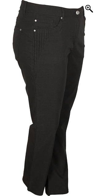 Zhenzi - Long bengalin step pants - Black