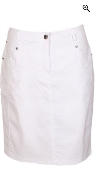 Zhenzi - Bengalin stretch skirt from zhenzi - White