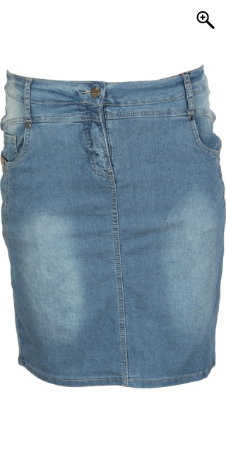 Zhenzi - Super strechy denim cowboynederdel - Spring light blue wash