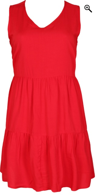 Studio - Dress without sleeves - Cherry red