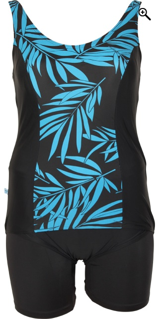 Mirou Swimwear - Smart badedragt med blomsterprint - Blue palm