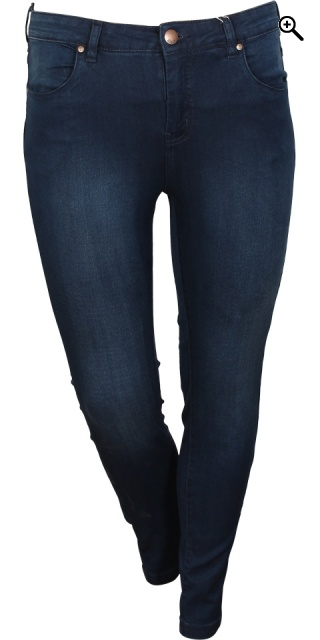 Zizzi - Denim Jeans amy super schlank jeggings - Blau Denim 78 cm.