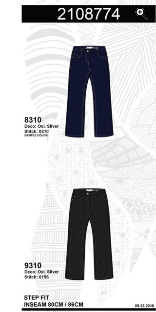 Zhenzi - Step straight leg normal fit long denim pants
