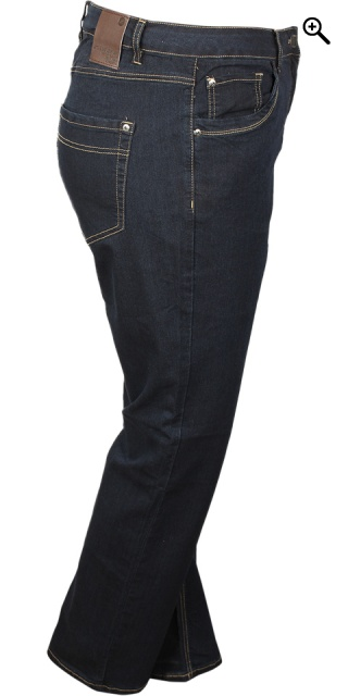 Zhenzi - Step straight leg normal fit long denim pants - Dark blue