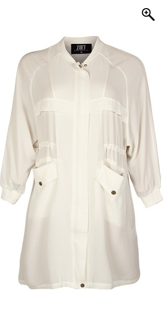 Zoey - Really smart shirt jacket - Vanilla