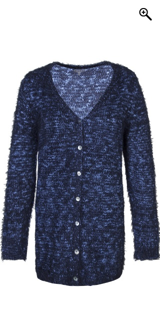 Zhenzi - Cardigan in stylish mottled knit - Navy