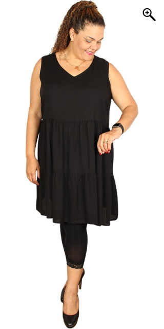 Studio - Dress without sleeves - Black