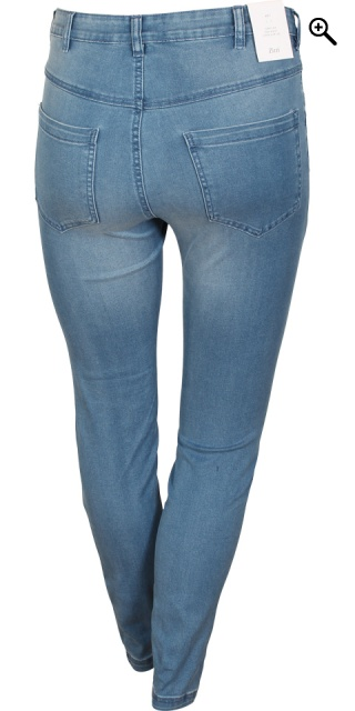 Zizzi - Denim Jeans amy super schlank jeggings - Light blau Denim 82 cm.