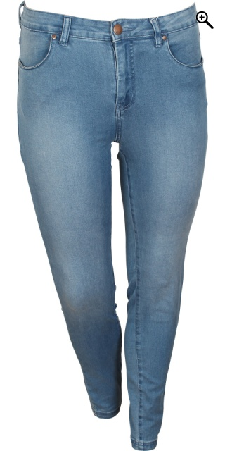 Zizzi - Denim Jeans amy super schlank jeggings - Light blau Denim 78 cm.