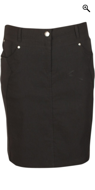 Zhenzi - Bengalin stretch skirt from zhenzi - Black