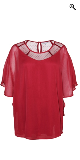 Zhenzi - Chiffon genser - Ruby red