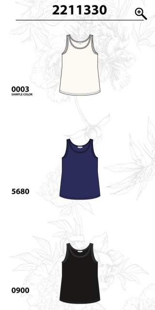Zhenzi - Basic top without sleeves