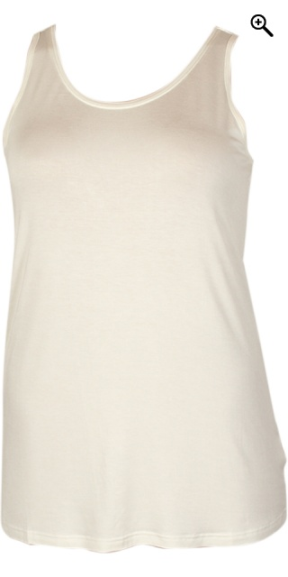 Zhenzi - Basic top without sleeves - Off-white