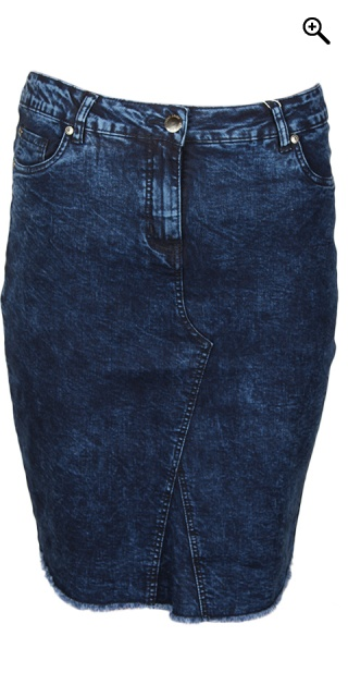 Zhenzi - Denim skirt 5 pockets - Rough blue wash