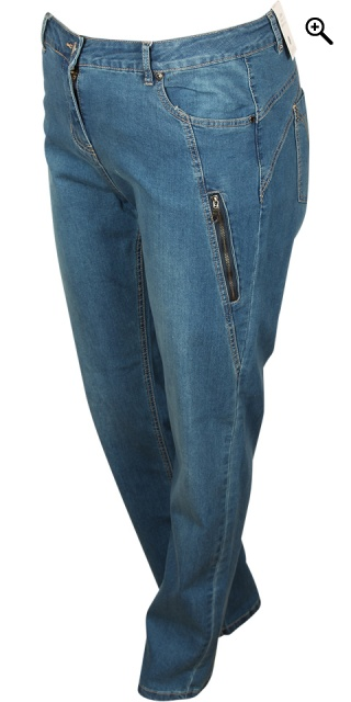 Zhenzi - Salsa Denim Hosen normaler fit Jeans - Lake blau Wash