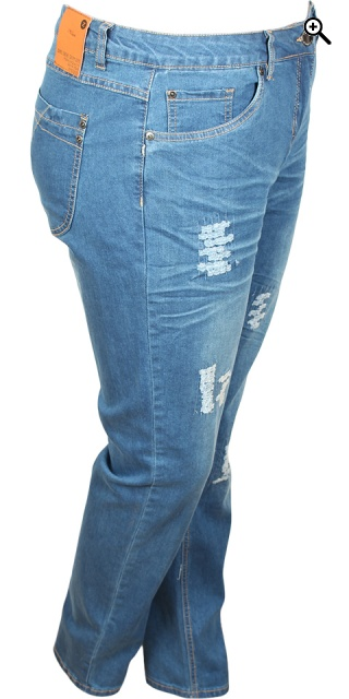 Zhenzi - Stomp denim jeans pants - Ray blue wash