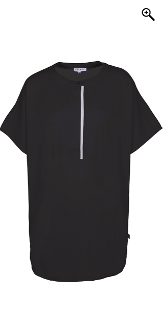 Zhenzi - Oversize short the sleeve tunica - Black