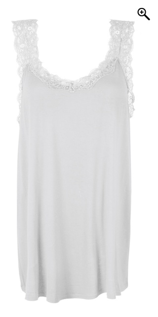 Zhenzi - Top with nice lace straps - Off-white