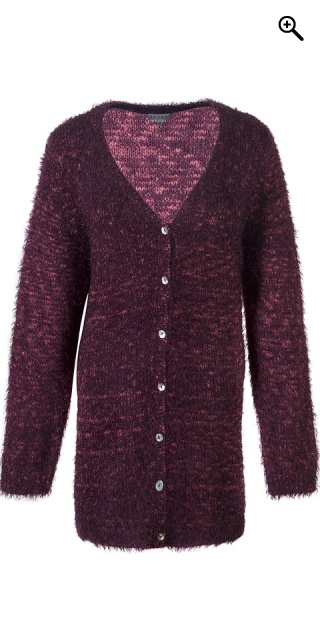 Zhenzi - Cardigan in stylish mottled knit - Amarone