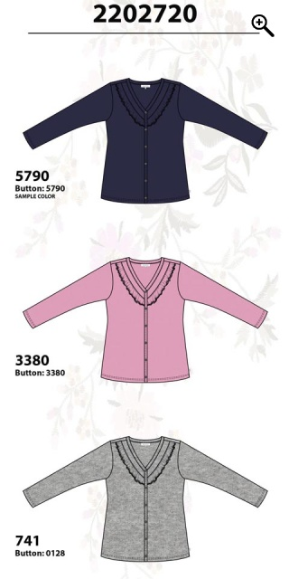 Zhenzi - All-buttoned cardigan