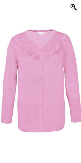 Zhenzi - All-buttoned cardigan - Cyclamen