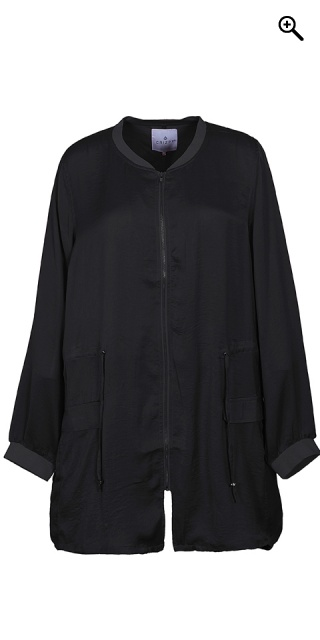 Zhenzi - Cardigan jacket in fine quality which are closed - Black