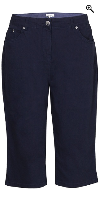 Zhenzi - Step pants strechy stumpebuks - Navy