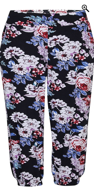 Zhenzi - Smart flourished pants in strechy material - Navy
