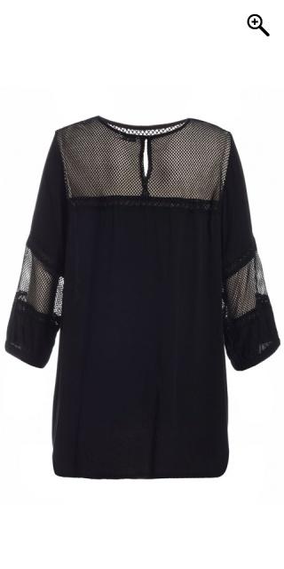 Gozzip - Blus tunika med 3 4 ärmar och smart spets i ärmar och i ... 5c6786815a90d