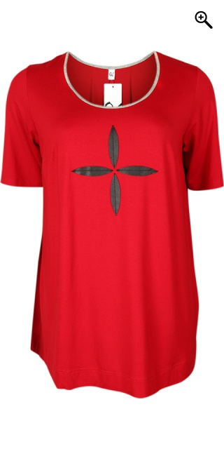 Que - Blouse/t-shirt in a form - Red