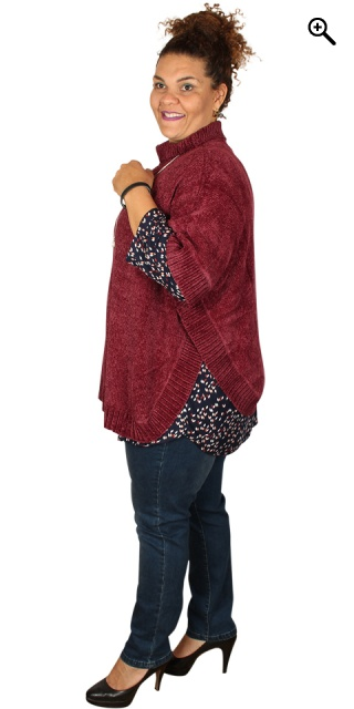Zhenzi - Poncho in stylish soft chenille