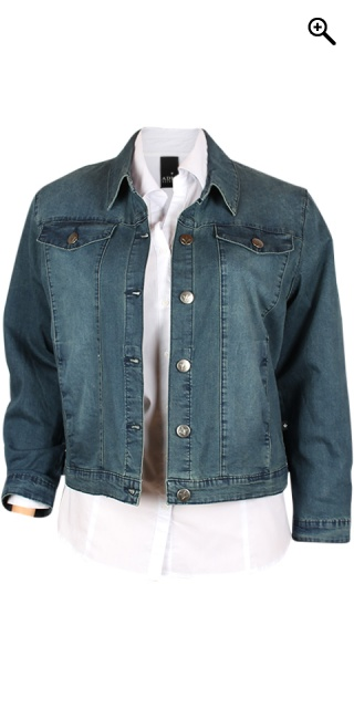 Adia Fashion - Klassisk denim jakke - Dark blue