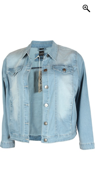Adia Fashion - Klassisk denim jakke - Blue sand