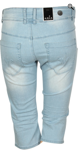 Adia Fashion - Curvy fashion jeans lucca stumpebukser