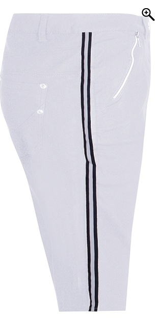 Zhenzi - Pants stomp fit stump trousers - White