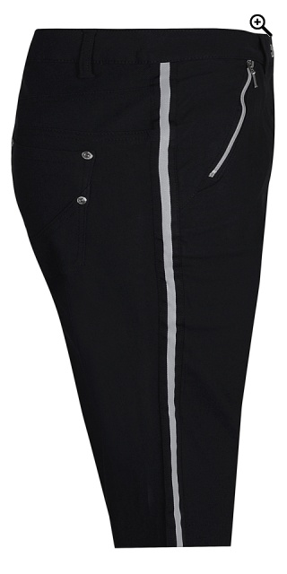 Zhenzi - Pants stomp fit stump trousers - Black