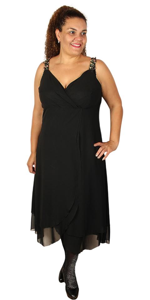 d2259abc9d0 Kirsten Krog Design - Elegant exclusiv kjole med flotte stropper og smart  snit under brystet med