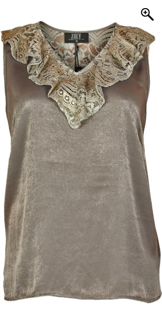 Zoey - Smart top in hard fabric - Grey