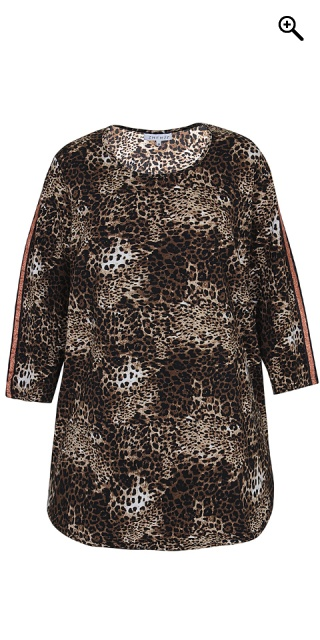 Zhenzi - Stretchable leopard tunica - Black