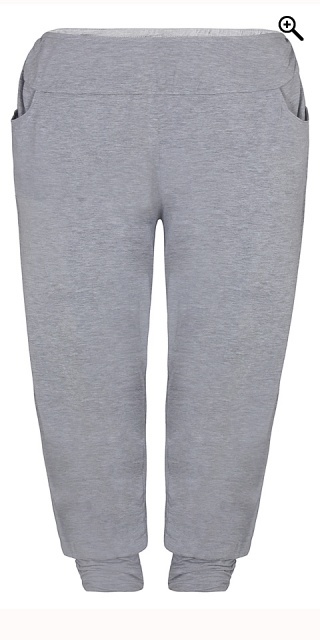 Zhenzi - Pants loose fit in strechy material - Light grey melange