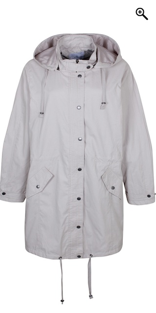 Zhenzi - Smart lined jacket in trench style - Chateau grey