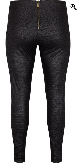 Adia Fashion - Leggings bukser i snake look - Svart