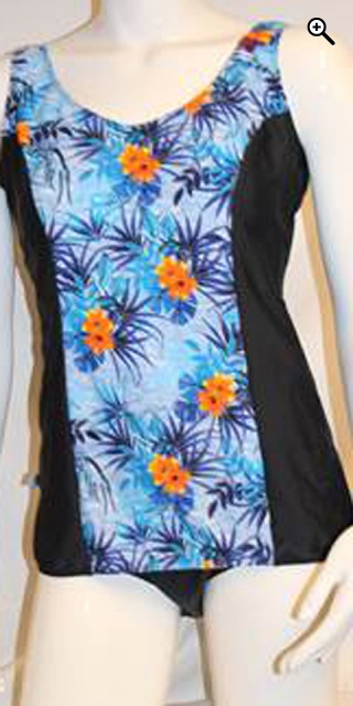 Mirou Swimwear - Smart badedragt med blomsterprint - Blue/orange print