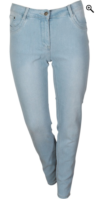Zhenzi - Jeggings samba super slim passform i strechy denim - Vår l. Blå