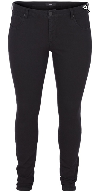 Zizzi - Jeans amy super slim jeggings - Black