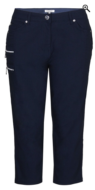 Zhenzi - Stomp pants stumpebukser - Navy